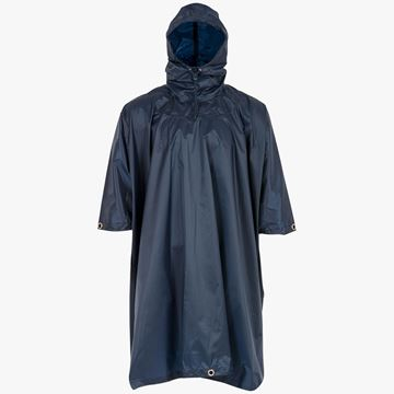 Picture of Adventure Hooded Poncho Navy Blue